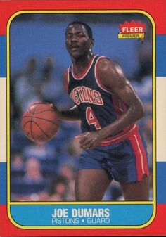 277212fb4 Joe Dumars, Basketball Cards, England Fans, Detroit Pistons, Premiers Sons,  Nba