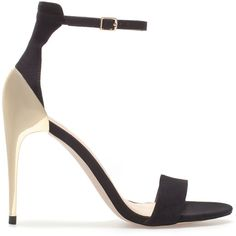 Zara Combination High Heel Sandal ($50) via Polyvore