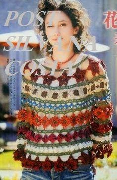 mama must make Form Crochet, Crochet Flower Patterns, Crochet Art, Crochet Designs, Crochet Blouse, Crochet Shawl, Crochet Stitches, Crochet Circles, Beautiful Crochet