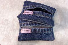 tissue holder -- interesting made from leg hems