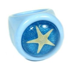 Starfish Blue Ring Size 7 *** Check out this great product. (Note:Amazon affiliate link)