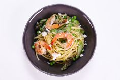 the chew | Recipe  | Michael Symon's Shrimp And Spring Vegetable Pasta