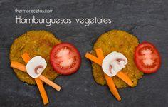 Hamburguesas vegetales Hamburguesas vegetales de setas y anacardos