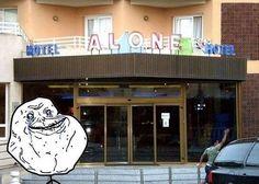 bloglosingrip - fotos engraçadas 13 - Um hotel pra você que é Forever Alone...
