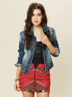 Free People Rattlesnake Mini Skirt, $98.00 - it's Michael Jackson meets the Grand Canyon. It's fantastic.