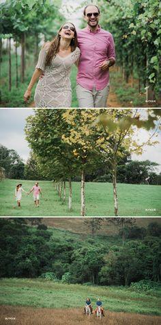 E-Session no Campo ao Ar Livre. Fotógrafo de Casamento faz ensaio no Haras.