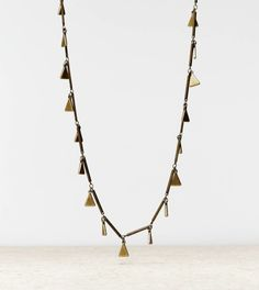 AEO Triangle Charm Necklace | American Eagle Outfitters