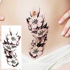Flower fake tattoo, Tattoo, Temporary Tattoo, Tattoo Sticker, Sticker #faketattoo#Tattoo#TemporaryTattoo#TattooSticker#Sticker #TemporaryTattoo Belly Tattoos, Stomach Tattoos, Fake Tattoos, Flower Tattoos, Cool Tattoos, Tatouage Abdomen, Abdomen Tattoo, C Section Tattoo, Tattoo Stickers