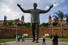 Statue of Nelson Mandela in front of Union Buildings, #Pretoria | Top things to do and see in #Johannesburg | Weather2Travel.com #travel #southafrica #city