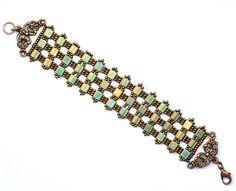 Tila bead bracelet with antique copper findings.