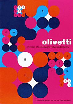 Olivetti Poster  designed by Anna Monika Jost - 1966  by ninonbooks, via Flickr