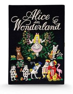 Olympia Le Tan 'Alice In Wonderland' clutch Clutch Bag, Adventures In Wonderland, Alice In Wonderland, Book Clutch, Dapper Day, Olympia Le Tan, Market Bag, Cute Bags, Book Covers