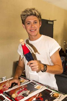 When he held up a doll version of himself and didn't look at all terrified about the fact that there is a doll version of himself. | 33 Times Niall Horan Was The Most Perfect Member Of One Direction
