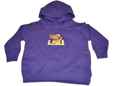 LSU Tigers Two Feet Ahead Toddler Purple Fleece Hoodie Sweatshirt