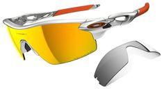 Oakley Radarlock Pitch Sunglasses with Silver Frame and Fire Iridium  Polarized and Black Iridium Lenses 7be806684253