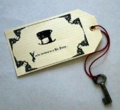 Mad hatter tea party invite