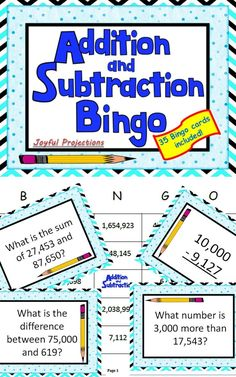 Put away the worksheets and let your students enjoy their practice - Adding and Subtracting numbers to the millions place!