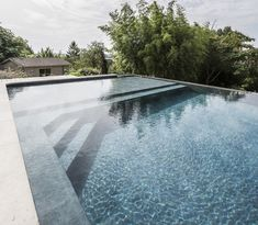 Family Pool, Water Water, Construction, Reinforced Concrete, Swimming Pools, Villa, Stairs, Backyard, Architecture
