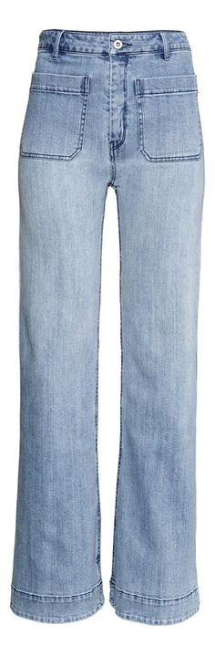 Shoppable Street Style: Recreate Two Spring-Ready Outfits - Wide-Leg Jeans, $30; at H&M