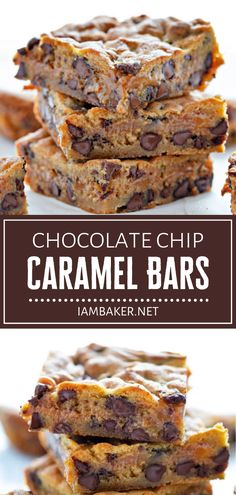This back to school treat is seriously amazing! Experience perfection in every delicious bite of Chocolate Chip Caramel Bars. Kids will love a combination of the best buttery chocolate chip cookie with a layer of rich caramel sauce! Save this dessert recipe and try it!