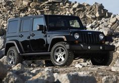 black 4 door jeep wrangler - future truck when I dont need as much trunk space