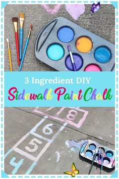 DIY Sidewalk Paint Chalk DIY Sidewalk Paint Chalk, kid crafts easy, kid crafts summertime, kid crafts for summer, kid activities outdoor, kid activities for summer<br> Learn how to make DIY sidewalk paint chalk that will keep your children entertained for hours! This quick and easy kids craft activity is a perfect way to get kids outdoors! Outdoor Activities For Kids, Easy Crafts For Kids, Summer Crafts, Toddler Crafts, Diy For Kids, Kid Activities, Kid Crafts, Kids Outdoor Crafts, Outdoor Fun For Kids