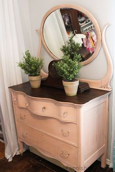 knot too shabby: Great Grandma's Dresser and the Girls Room