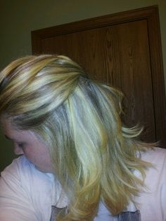 Loose French braid. Large barrel curling iron at tips!!!
