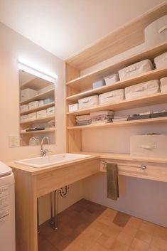 Natural Interior, Washroom, Corner Desk, Sweet Home, Architecture, House, Furniture, Home Decor, Homes