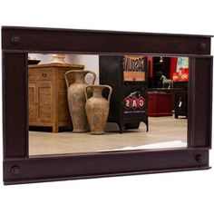 The Industrial Rail Mirror is original and creative. Made from timber but looking every bit like an iron railway track, this mirror has both novelty factor and style. Industrial, Rustic Furniture, Timber, Iron, Furniture, Home Decor, Mirror