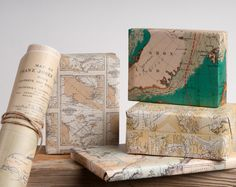 Artico storico Mappe: carta da imballaggio / 12 fogli