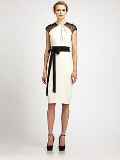 Badgley Mischka Bow Belt Dress