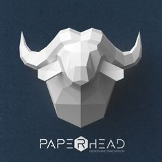 Wall-type Buffalo head template PDF by PaperheadDesign on Etsy