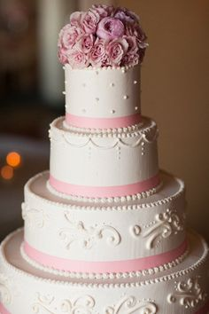 Pink cake. Monterey Plaza Hotel Catering.