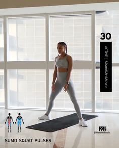Fitness Workouts, Full Body Hiit Workout, Hiit Workout At Home, Gym Workout Videos, Gym Workout For Beginners, Fitness Workout For Women, Butt Workout, Thigh Exercises, Thigh Workouts