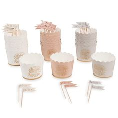 Set of 24 cupcake moulds + cocktail stick decorations MERRY COPPER | Maisons du Monde