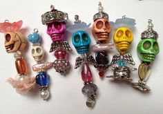 Day Of The Dead Pendants All Souls Day All Saints by MiaJoStudios