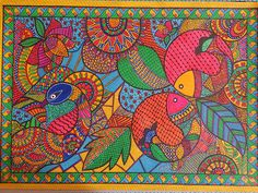 Madhubani paintings by Sonal Johar Dubai Madhubani Paintings Peacock, Kalamkari Painting, Madhubani Art, Indian Art Paintings, Gond Painting, Kerala Mural Painting, Abstract Drawings, Art Drawings, Indian Traditional Paintings