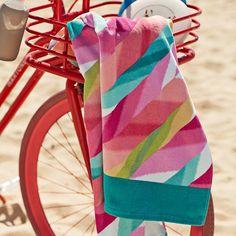 Ikat Stripe Beach Towel | PBteen