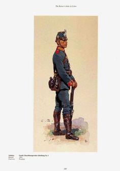 .German; 1st Guard Machinegun Abteilung, Soldier, c.1905. Raised 1901. Home Depot; Potsdam