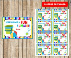 FREE Summer Bucket Labels for your students buckets!! I know a lot ...