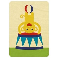 Scoops design - Cheeky Monkey wooded card