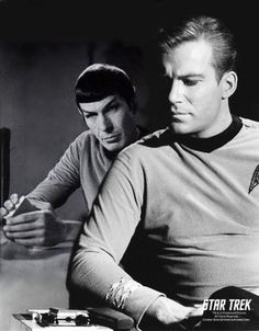spock and kirk, I gotta admit, I was for Spock, all the way.