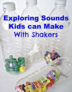 Want a fun, easy way to occupy your preschooler? Try experimenting with shakers. These are made with everyday items -- kids will have a blast making noise and exploring sound with them!