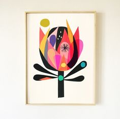 Braidwood bud australian native flower print in 2019 collage Modern Prints, Fine Art Prints, Abstract Flowers, Abstract Art, Australian Native Flowers, Native Art, Botanical Art, Origami, Flower Prints