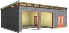 24 x 34 garage amp shop modern shed design westcoast Prefab Garage With Apartment, Prefab Garage Kits, Prefab Garages, Carport Garage, Cool Garages, Garage Apartments, Garage House, Prefab Homes, Garage Shop