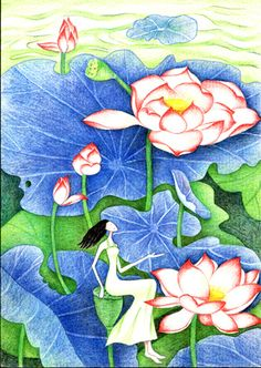 Summer Lotus Girl~ Do You Remember, Lotus, First Love, The Originals, Summer, Painting, Art, Summer Time, First Crush