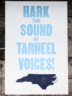 I really, really want this print.  #UNC #TarHeels
