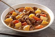 Here's a warm and welcoming Irish stew recipe for six that takes just 30 minutes to prep. Tender lamb and chunks of vegetables make this one hearty dish.