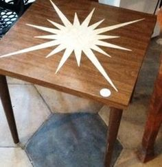 San Jose: Mid Century Modern atomic star little table  $29 - http://furnishlyst.com/listings/910367